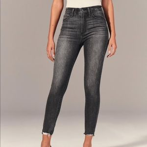 Abercrombie high rise super skinny ankle jeans